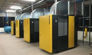 industrial compressed air system installation