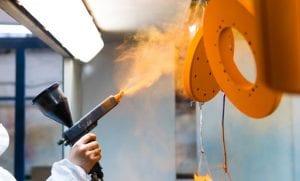 powder coating respiratory equipment testing